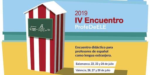 IV Encuentro didáctico ProfeDeELE (Valencia)