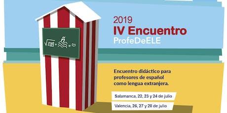 IV Encuentro didáctico ProfeDeELE (Salamanca) entradas