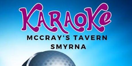 Karaoke Night at McCray's Smyrna tickets