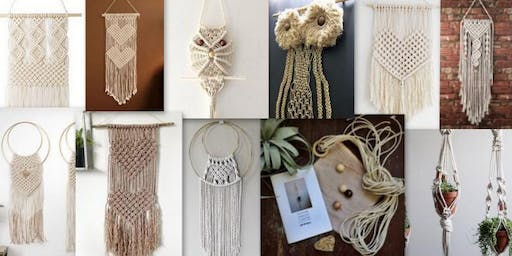 Macrame Workshop at Raw Urban Winery