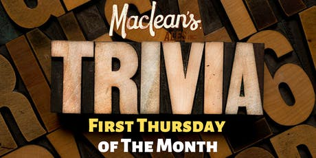 MacLean's Trivia Night tickets