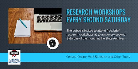 State Archives Research Workshops tickets