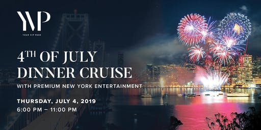 July 4 Fireworks Seated Dinner Cruise with Premium New York Entertainment