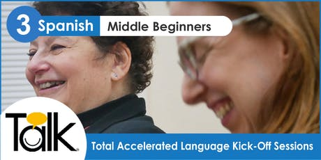 TALK in Spanish: Conversation Workshop for Middle Beginners (Wednesdays) tickets
