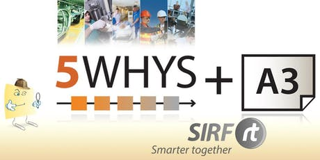 WA - 5 Whys A3 Workshop (5Y) | 1 Day | First Level RCA - Root Cause Analysis Training | RCARt tickets