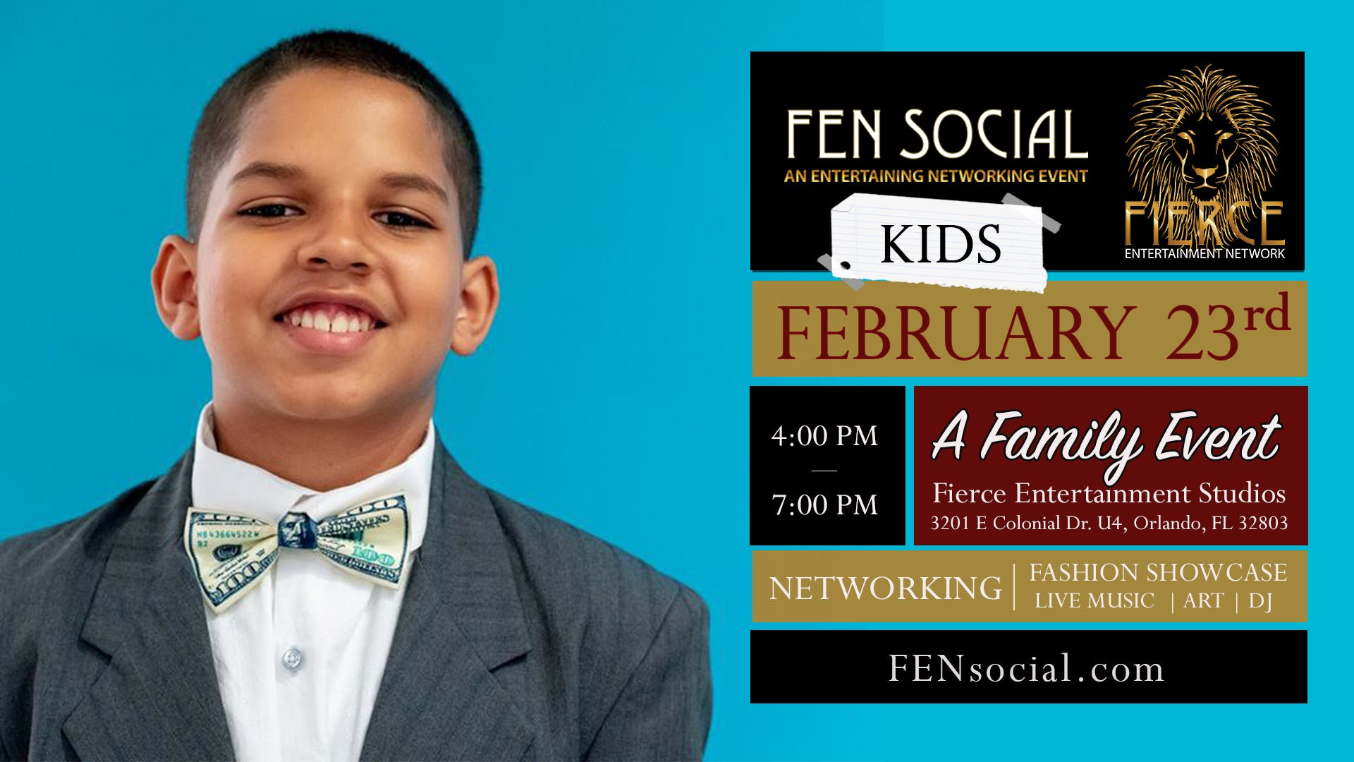 FEN Social Kids at Fierce Entertainment Studios Fashion Show, Music, Art