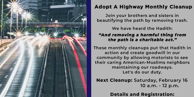Adopt A Highway - Monthly Cleanup