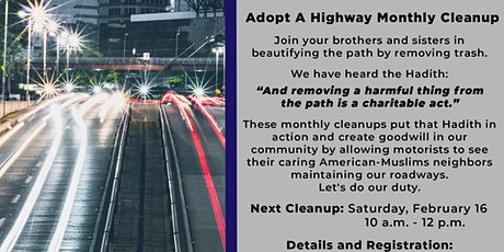 Adopt A Highway - Monthly Cleanup tickets
