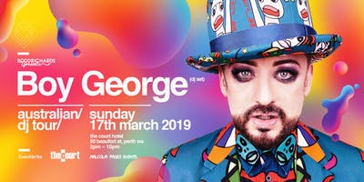 BOY GEORGE (DJ Set) Perth