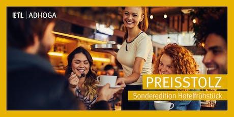 Preisstolz - Sonderedition Hotelfrühstück Hamburg 13.08.2019 Tickets