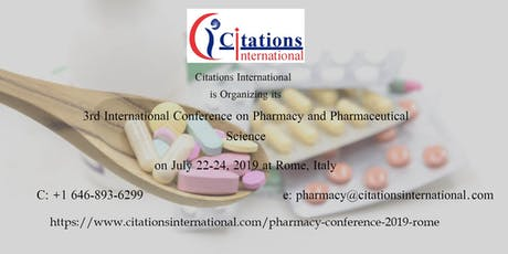International Conference on Pharmacy and Pharmaceutical Science-2019 biglietti