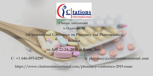 International Conference on Pharmacy and Pharmaceutical Science-2019