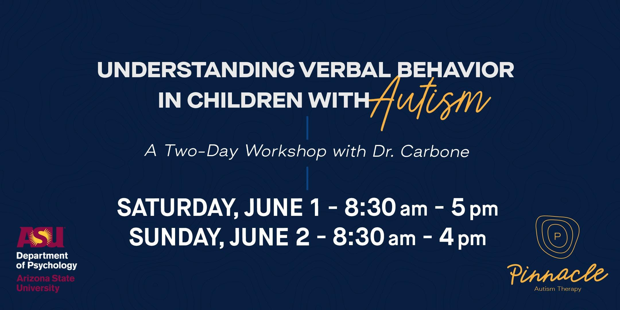 A Two-Day Workshop with Dr. Carbone