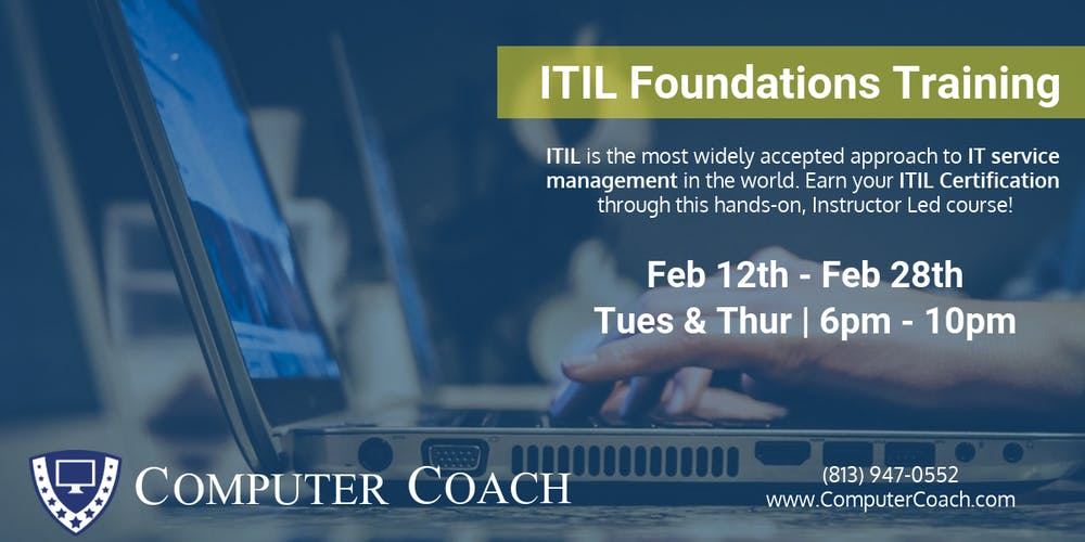 Itil Foundations Certification Training Tickets Tue Feb 12 2019