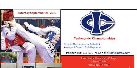 Iowa Central Taekwondo Championships Sep 28, 2019 tickets