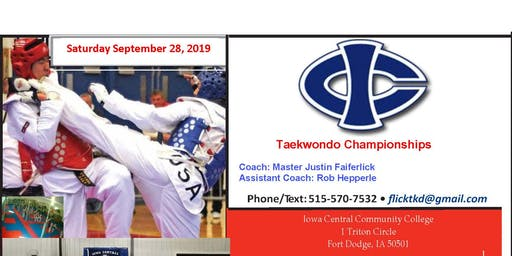 Iowa Central Taekwondo Championships Sep 28, 2019