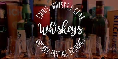 Ennis Whiskey Club - Whiskey Tasting Evening - October 2019