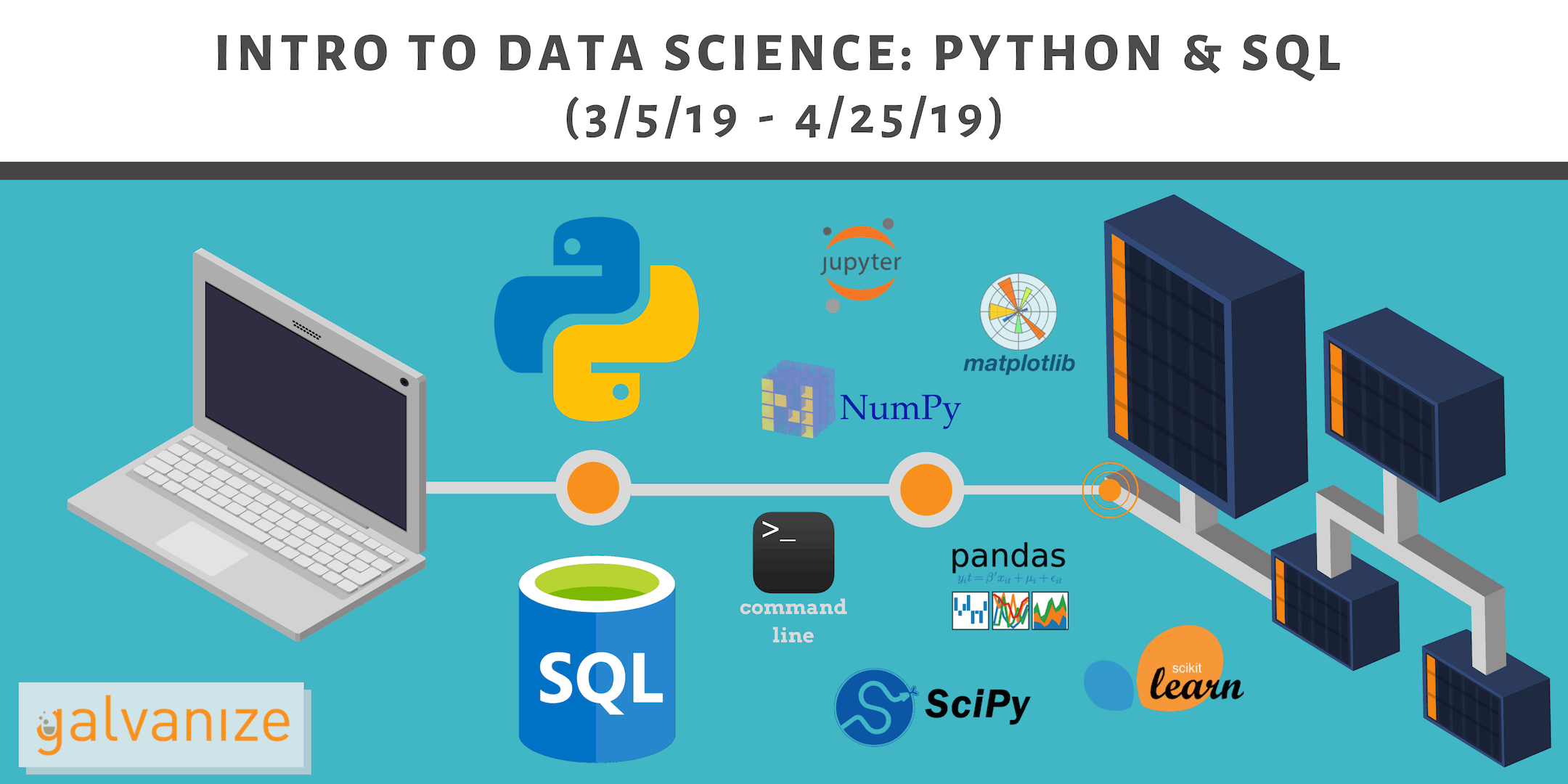 Intro to Data Science: Python and SQL (3/5/19 - 4/25/19)