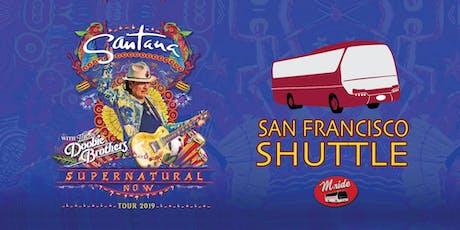 Santana Shuttle Bus to Shoreline Amphitheater tickets