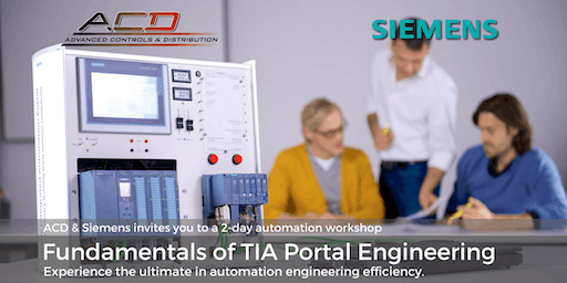 Siemens Fundamentals of TIA Portal 2-Day Workshop (12/3-12/4)