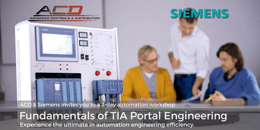 Siemens Fundamentals of TIA Portal 2-Day Workshop (10/1-10/2)
