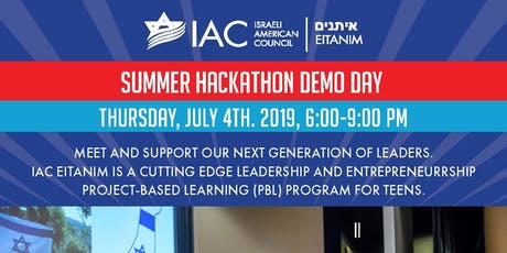 IAC Eitanim Summer Hackathon Demo Day! tickets