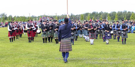 Piping and Drumming Registration - 2019 Alaska Scottish Highland Games tickets