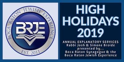 Rosh Hashana & Yom Kippur High Holidays in Boca Raton 2019