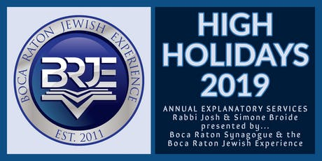 Rosh Hashana & Yom Kippur High Holidays in Boca Raton 2019 tickets