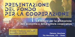 Presentazione del fondo per la cooperazione