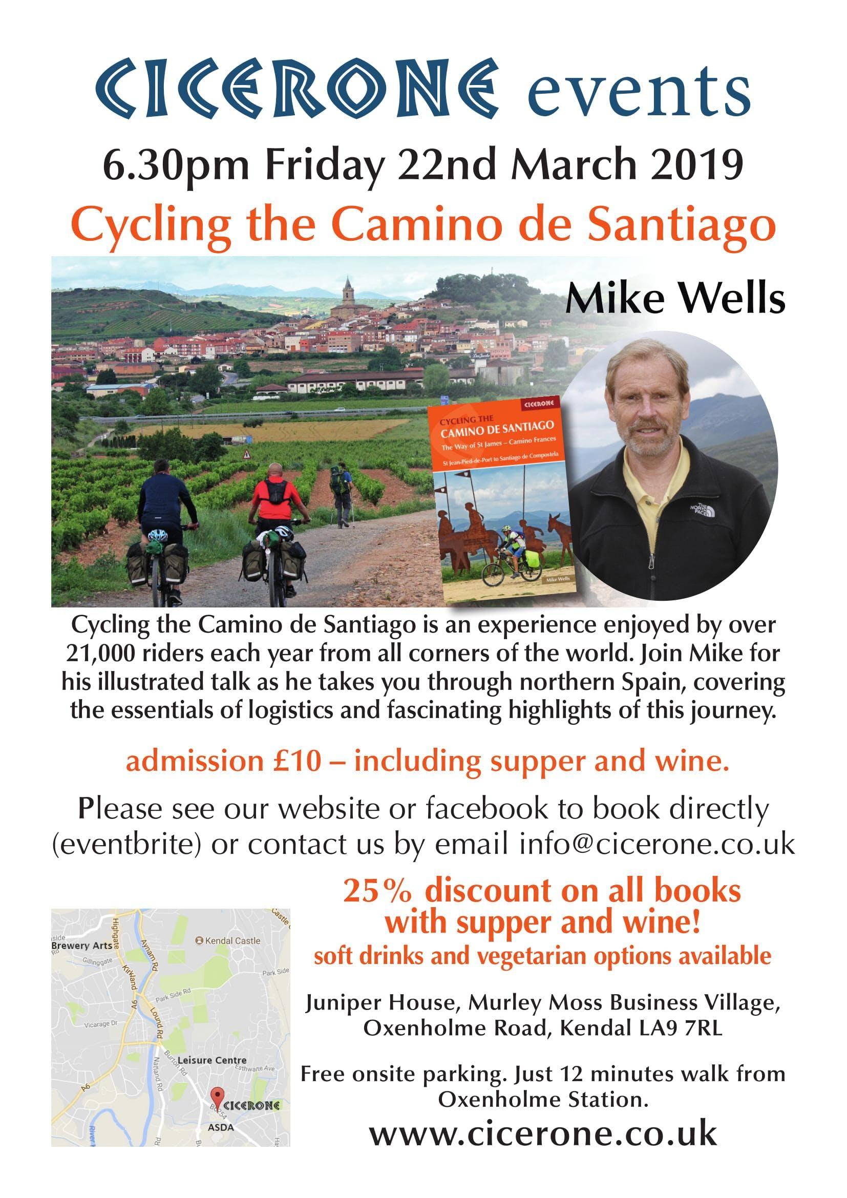Cycling the Camino de Santiago - talk by Mike