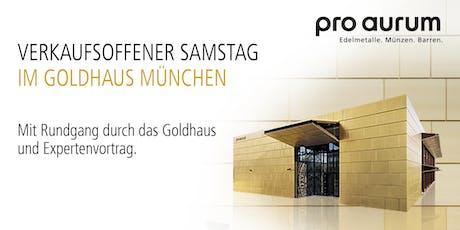 """19.10.2019 Goldhausführung & Vortrag: """"Vermögenssicherung mit GOLD und SILBER"""". Tickets"""