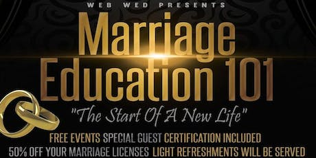 WEBWED PRESENTS FREE MARRIAGE EDUCATION  tickets