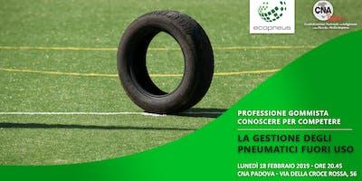 La gestione degli pneumatici fuori uso