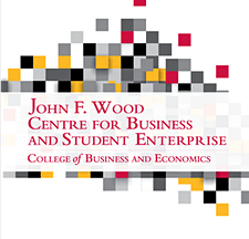 The John F. Wood Centre for Business and Student Enterprise logo