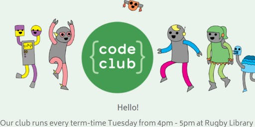 Tuesday Code Club at Rugby Library