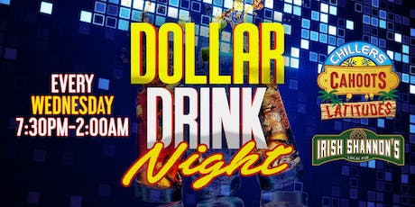 $1 Drink Night Wednesdays | RSVP-4-FREE Entry & 1st Drink FREE tickets