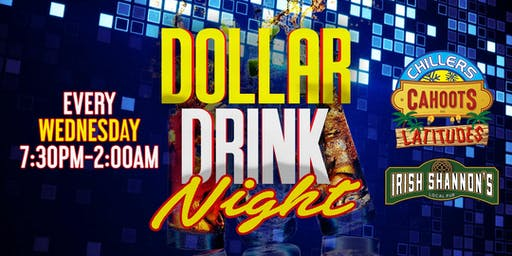 $1 Drink Night Wednesdays | RSVP-4-FREE Entry & 1st Drink FREE