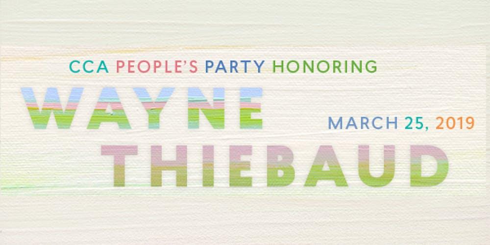 Cca Sf Campus Map.Cca People S Party Honoring Wayne Thiebaud Tickets Mon Mar 25