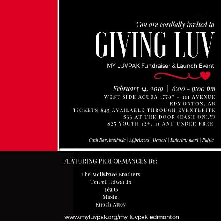 Giving Luv | My LuvPak Edmonton Valentine's Day Fundraiser & Launch Event image