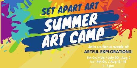 5th Gr. & Up SUMMER ART CAMP tickets