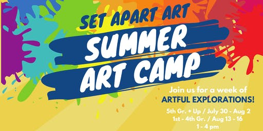 5th Gr. & Up SUMMER ART CAMP