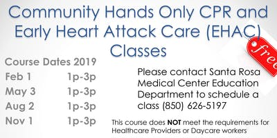 Community Hands Only CPR & Early Heart Attack Care Classes