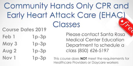 Community Hands Only CPR & Early Heart Attack Care Classes tickets
