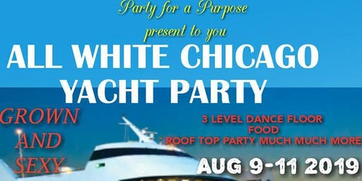 Summer Getaway ALL WHITE CHICAGO YACHT PARTY