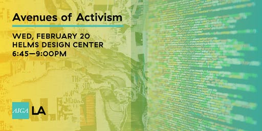 Avenues Of Activism Tickets Wed Feb 20 2019 At 645 Pm Eventbrite