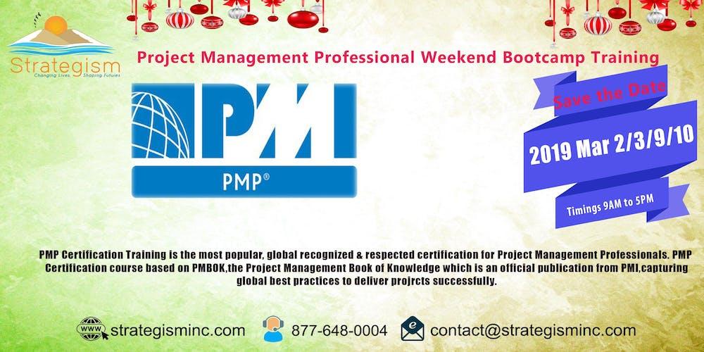 Pmp Weekend Bootcamp For Sacramento Mar 239102019 Tickets Sat