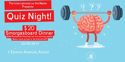 Quiz Night at the International on the Water!