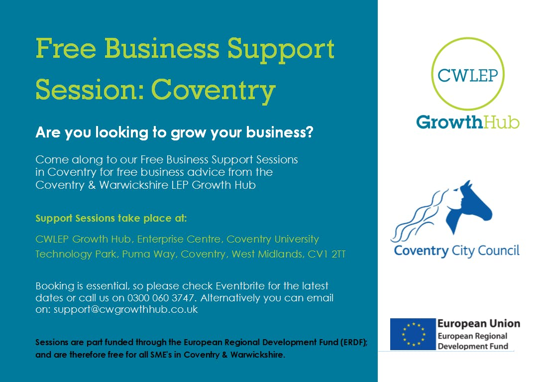 FREE Business Support Session: Coventry