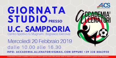 Giornata studio presso U.C. Sampdoria di Mister Marco Giampaolo